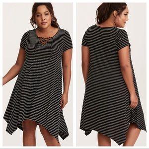 NWOT Torrid Striped Sharkbite Dress